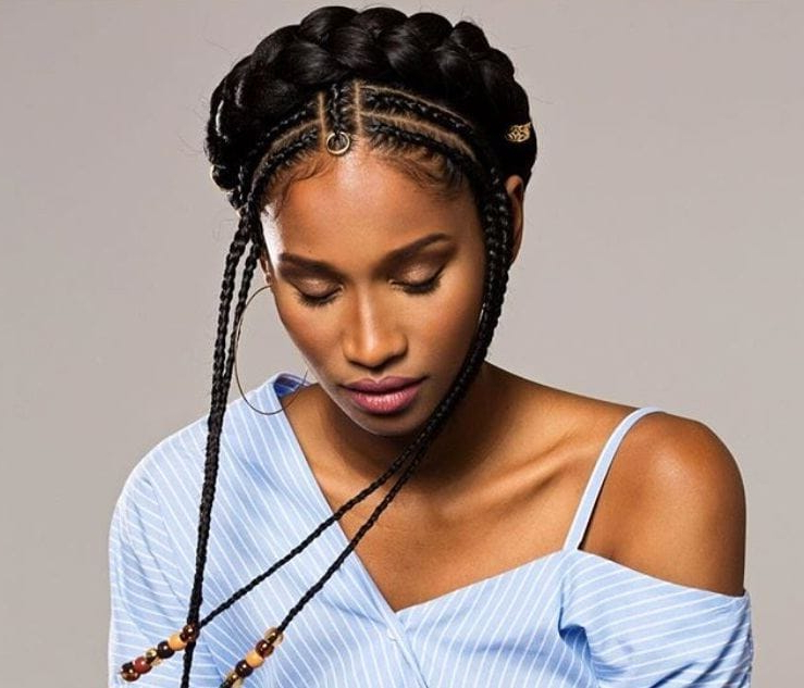 Take A Moment To Let These Modern African Hairstyles Wow You For Best And Newest Halo Braided Hairstyles With Beads (View 25 of 25)