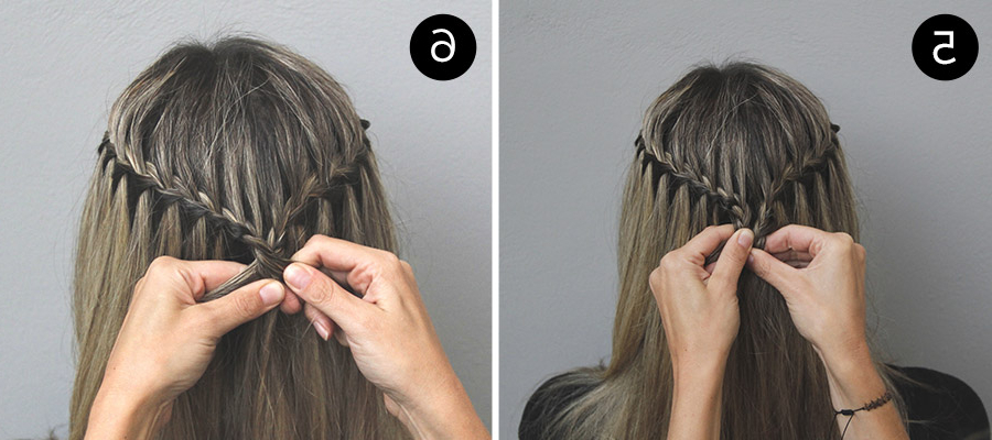 Take Your Everyday Look To The Next Level With A Waterfall Intended For Most Current Waterfall Mermaid Braid Hairstyles (View 11 of 25)
