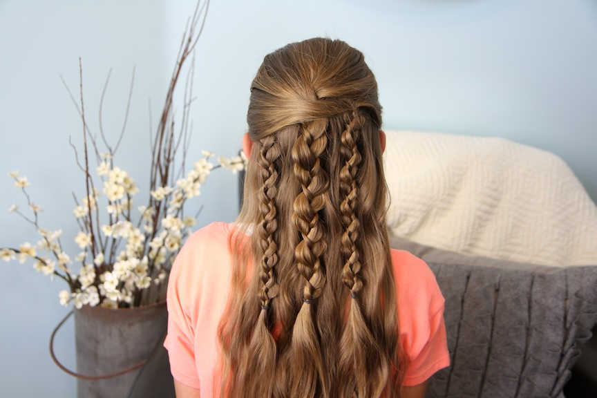Textured Braids | Cute Hairstyle Accents | Cute Girls Hairstyles With Most Recently Pretty Pinned Back Half Updo Braids (View 15 of 25)