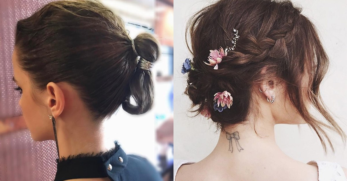 The 20 Best Updos For Short Hair | Glamour With Most Recent Short Stacked Bob Micro Braids (View 19 of 25)