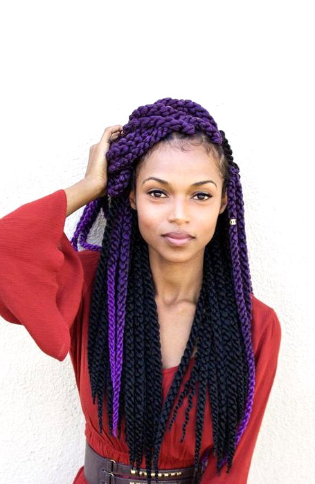 The Best Yarn Braid Hairstyles To Spice Up Your Look – The Regarding Current Blue And White Yarn Hairstyles (View 6 of 25)