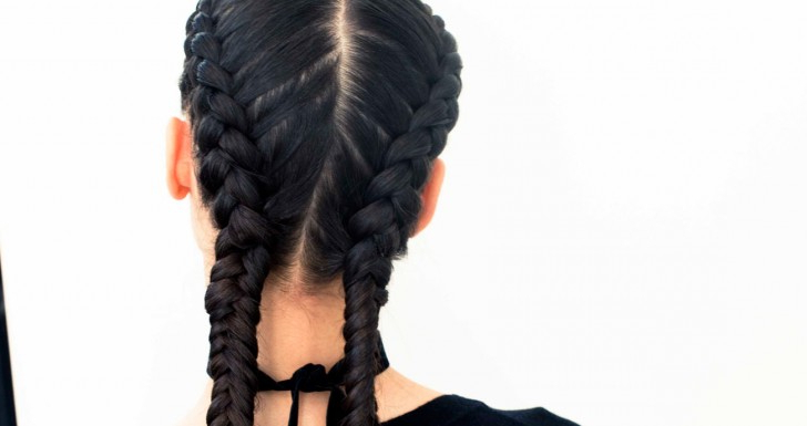 The Boxer Braid (Aka Double French Braid): A How To – Coveteur In Recent Undershave Micro Braid Hairstyles (View 21 of 25)
