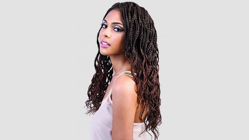 The Coolest Box Braids Hairstyles You Need To Try – The In Best And Newest Skinny Braid Hairstyles With Purple Ends (View 18 of 25)