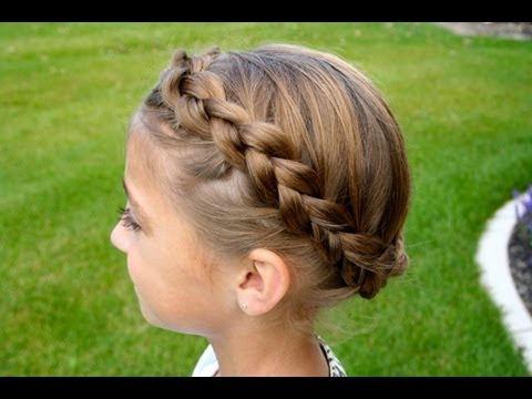 The Crown {Carousel} Braid | Updos | Cute Girls Hairstyles With Regard To Most Recently Traditional Halo Braided Hairstyles With Flowers (View 8 of 25)