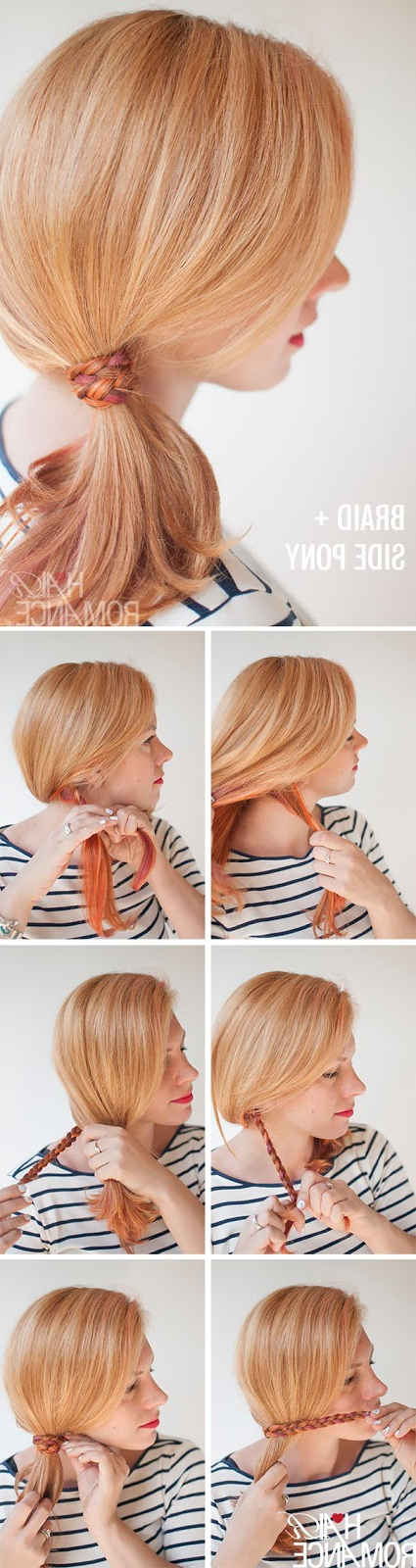The Freckled Fox: Hair Tutorial: The Braid Wrapped Ponytail In Most Recently Wrapped Ponytail Braid Hairstyles (View 9 of 25)