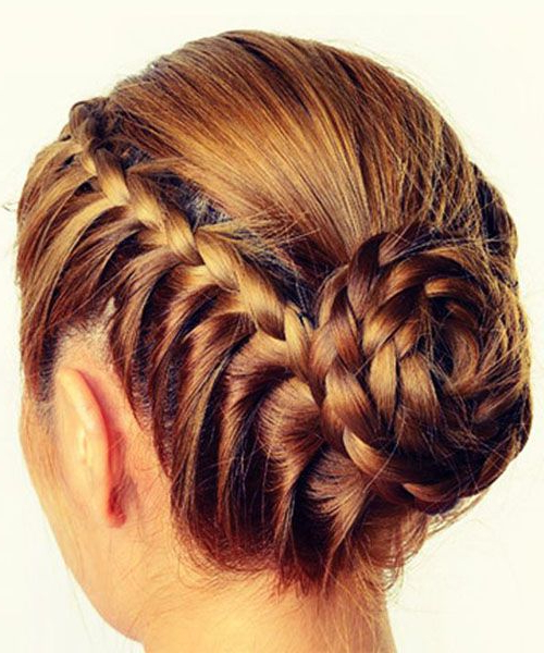 The Messy Rope Braids And Low Bun (View 14 of 25)