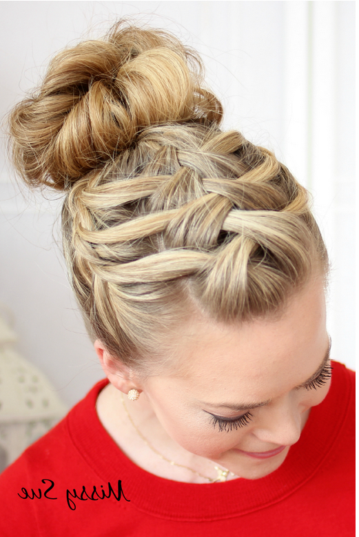 Featured Photo of Triple Under Braid Hairstyles With A Bun