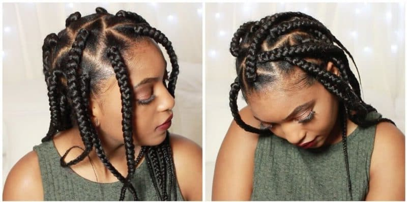 These 21 Triangle Braids Will Leave You Lovin' Geometry [2019] With Newest Geometric Blonde Cornrows Braided Hairstyles (View 24 of 25)