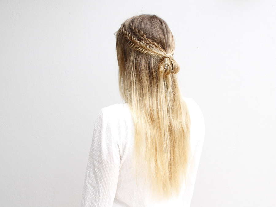 These Half Up Boho Braids Are The Definition Of Simple Chic Pertaining To Most Recently Boho Half Braid Hairstyles (View 4 of 25)