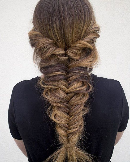 Thick Messy Fishtail Braid   Amazing Fishtail Braid With Most Current Messy Mermaid Braid Hairstyles (View 6 of 25)
