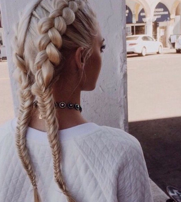 This French Braid Fishtail Pigtail Hair Tutorial   Haiir In With Regard To Most Current 3D Mermaid Plait Braid Hairstyles (View 16 of 25)