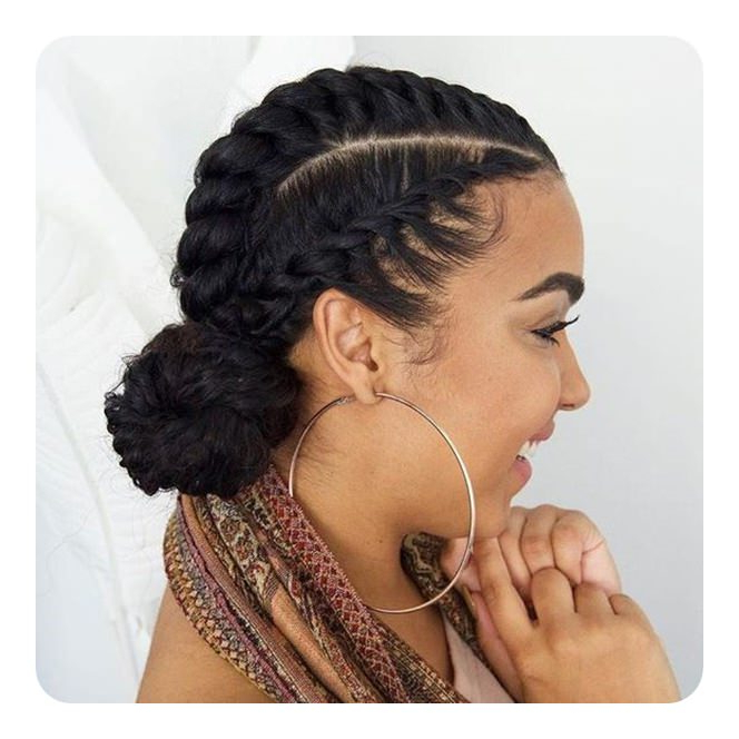 Tired Of Cornrows? 86 Coolest Flat Twist To Try This 2018! Intended For Best And Newest Pastel Colored Updo Hairstyles With Rope Twist (View 9 of 25)