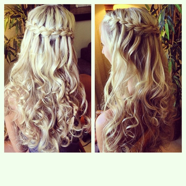 Todays Bridesmaid With The Prettiest Mermaid Hair And Regarding Current Waterfall Mermaid Braid Hairstyles (View 20 of 25)