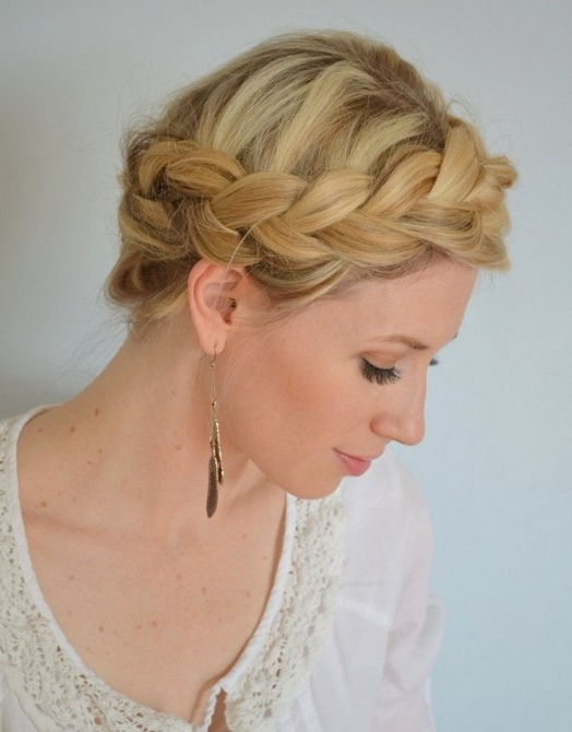 Top 20 Braided Hairstyles Tutorials – Pretty Designs Inside Most Current Medieval Crown Braided Hairstyles (View 6 of 25)