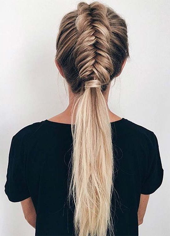 Top 40 Best Sporty Hairstyles For Workout | Fashionisers© Inside Latest Stylishly Swept Back Braid Hairstyles (View 10 of 25)