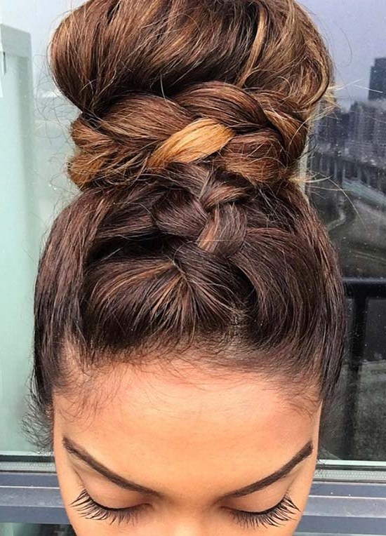 Top 40 Best Sporty Hairstyles For Workout   Fashionisers© Inside Newest Tight Braided Hairstyles With Headband (View 25 of 25)