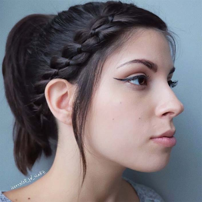 Top 40 Best Sporty Hairstyles For Workout   Fashionisers© With Most Current Funky Sock Bun Micro Braid Hairstyles (View 19 of 25)