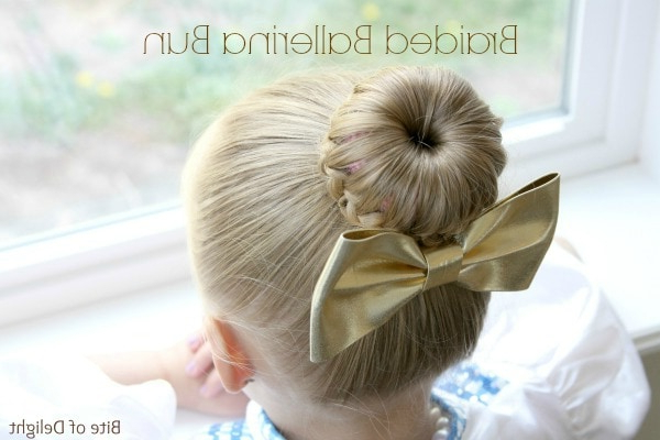 Top 5 Bun Hairstyles For Girls – Bite Of Delight In Latest Braided Ballerina Bun Hairstyles (View 12 of 25)