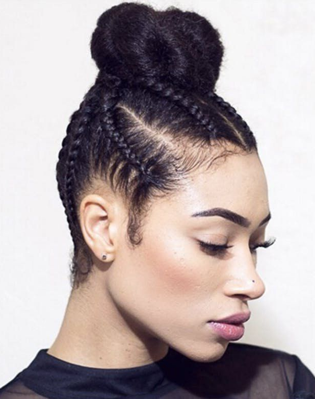 Top Knot Cornrows (View 4 of 25)