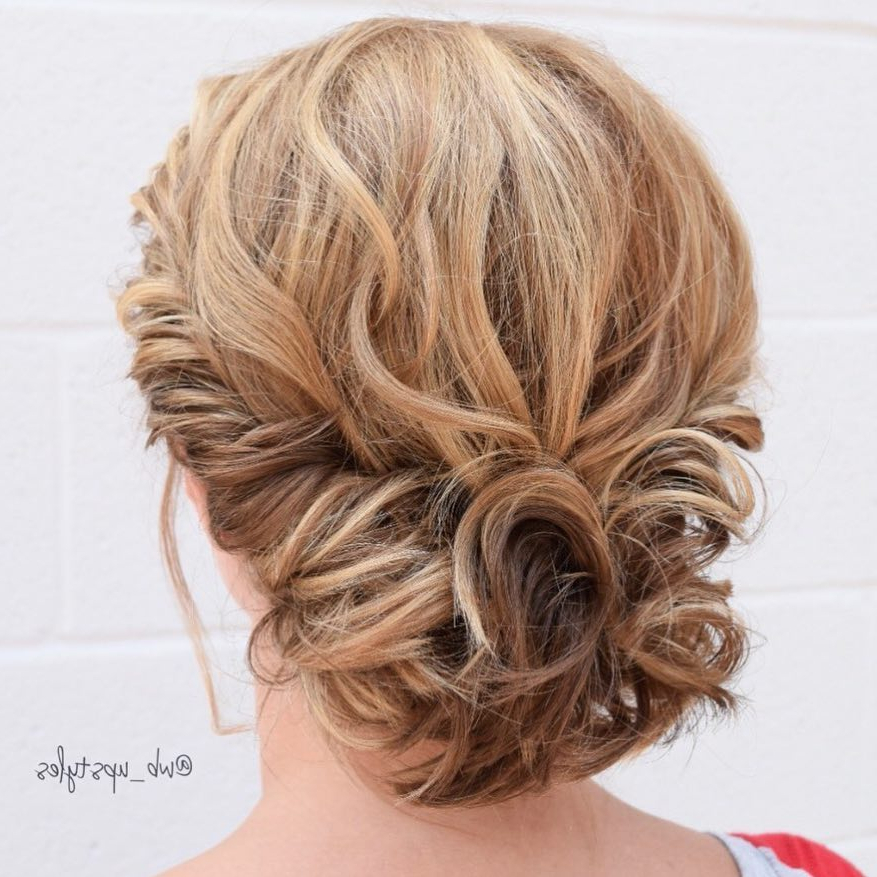 Trendy Updos For Short Hair: From Casual To Special Occasions Inside Most Recent Rolled Half Updo Bob Braid Hairstyles (View 12 of 25)