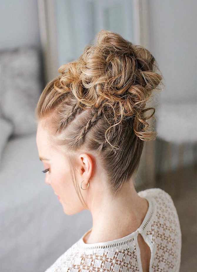 Triple Braid High Bun Hairstyles Ideas 2019 | Modren Hub Pertaining To Most Recent Triple Under Braid Hairstyles With A Bun (View 25 of 25)