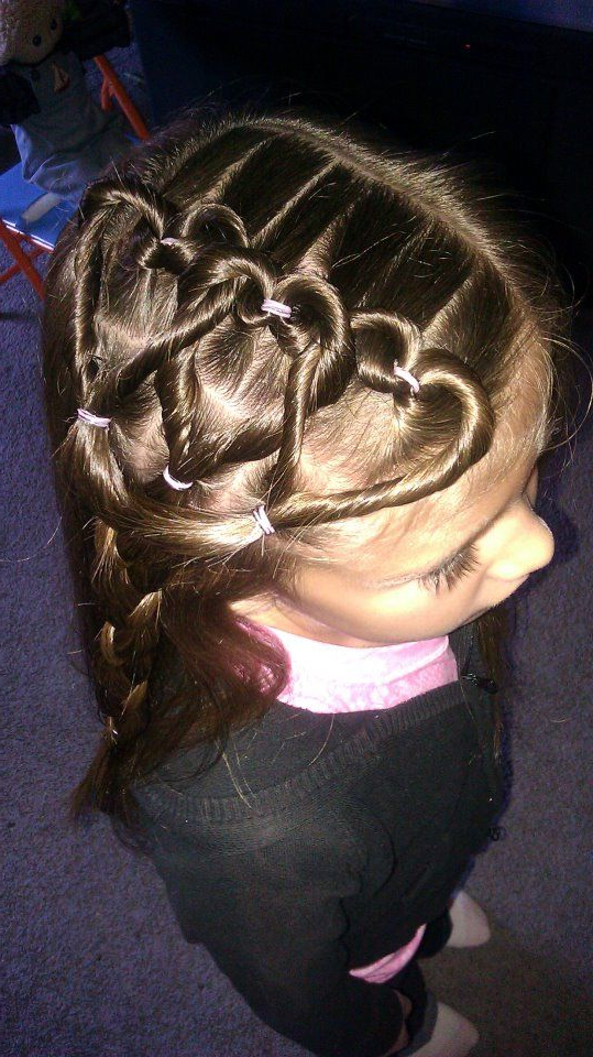 Triple Heart For Short Hair Too!   Hair In 2019   Heart Hair Throughout Most Up To Date Heart Shaped Fishtail Under Braid Hairstyles (View 20 of 25)