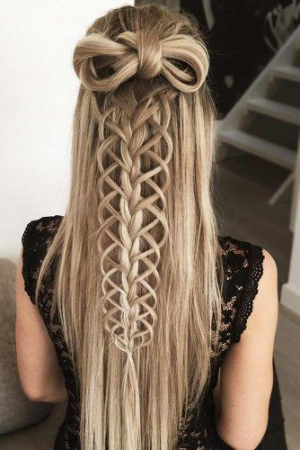 Try 42 Half Up Half Down Prom Hairstyles | Lovehairstyles Pertaining To Most Recently Half Up, Half Down Braided Hairstyles (View 5 of 25)