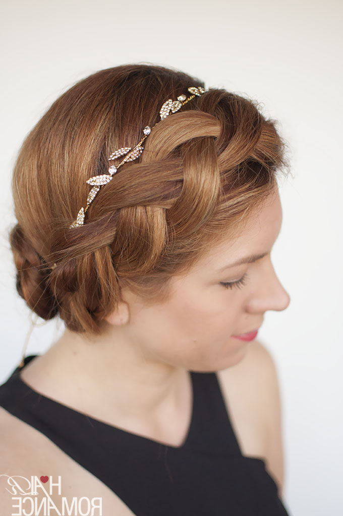 Try This Diy Braided Updo For Your Next Formal Event (Or Inside Latest Braid Hairstyles With Headband (View 22 of 25)