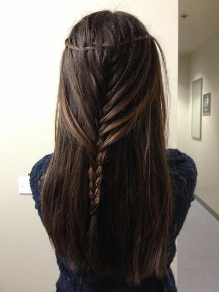 Tutorial: Mermaid Braid Half Up Hairstyle – Circletrest With Most Current Waterfall Mermaid Braid Hairstyles (View 21 of 25)