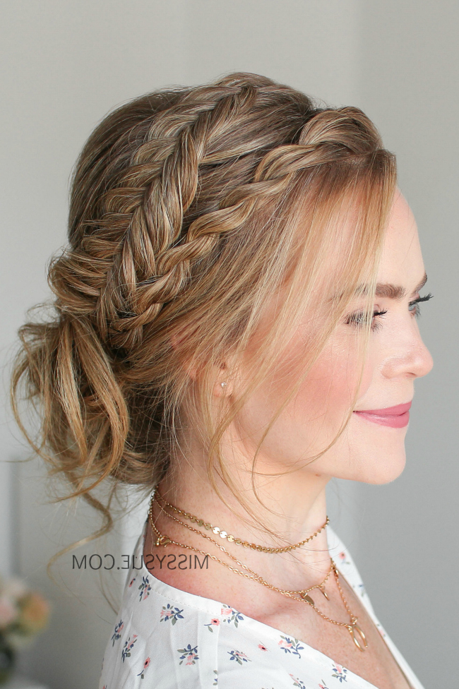 Twist Braid + Dutch Fishtail Updo   Hair Tutorial   Viva La For Most Popular Rope And Fishtail Braid Hairstyles (View 9 of 25)