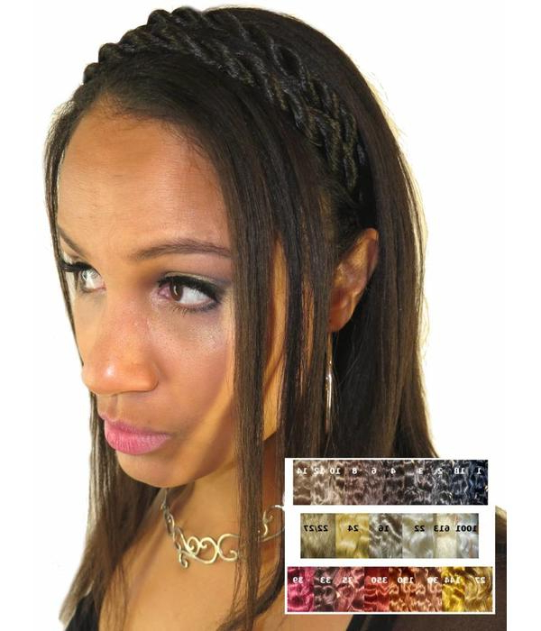 Twist Braid Headband In Custom Hair Color Magic Tribal Hair For Newest Double Headband Braided Hairstyles With Flowers (View 19 of 25)