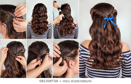 Twisted Hair Images, Stock Photos & Vectors   Shutterstock With Current 3D Mermaid Plait Braid Hairstyles (View 21 of 25)