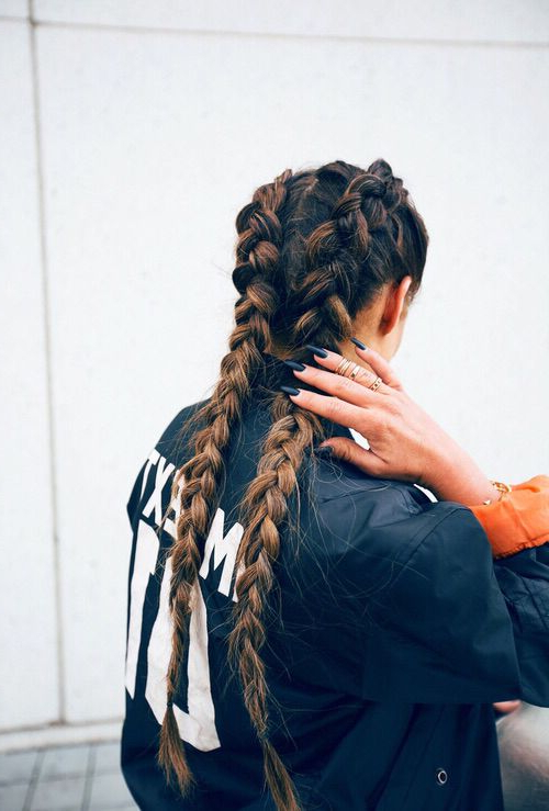 Two Braids French Long Hair Ombre | Hair | Hair, Long Hair With Latest Two Ombre Under Braid Hairstyles (View 2 of 25)