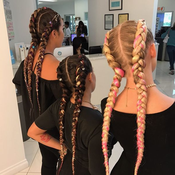 Two Braids Hairstyles Ideas (Trending In September 2019) With Most Up To Date Long Hairstyles With Multiple Braids (View 2 of 25)