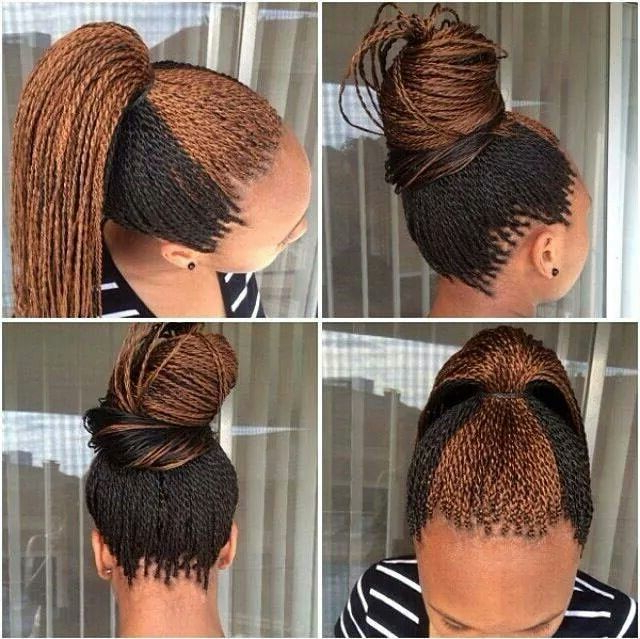 Two Colour Twist Out | Hairstyles | Micro Braids Hairstyles Throughout Current Two Tone Twists Hairstyles With Beads (View 20 of 25)