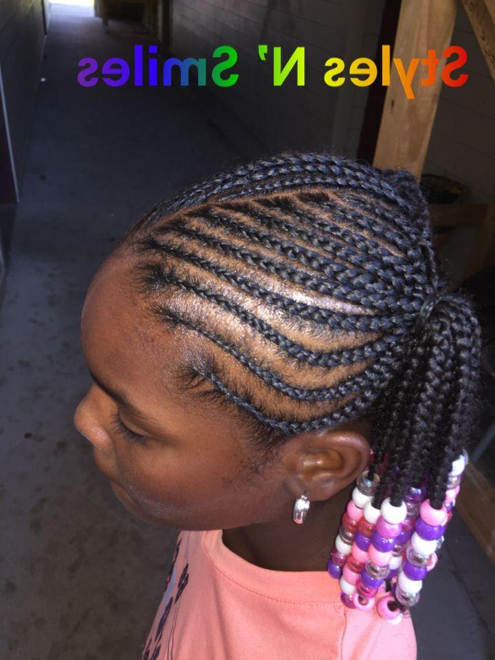 Two Ponytails #braids #kids #beads #braids #feedin #boxbraid Inside Most Recently Box Braid Bead Ponytail Hairstyles (View 16 of 25)