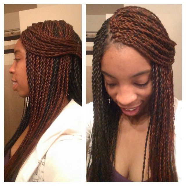 Two Toned Senegalese Twists Pinned Back | Love Me So With Current Two Tone Twists Hairstyles With Beads (View 2 of 25)