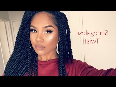 Undetectable Crochet Senegalese Twists #jazznicolemethod In Most Current Long Twists Invisible Braids With Highlights (View 14 of 25)