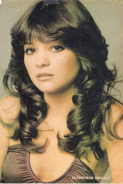 """Valerie Bertinelli Of """"one Day At A Time"""" – Sitcoms Online Intended For 2018 Low Haloed Braided Hairstyles (View 9 of 25)"""