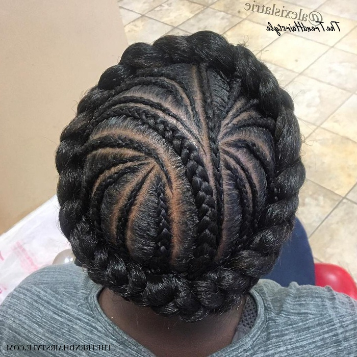 Voluminous Halo Braid – 20 Halo Braid Ideas To Try In 2019 In Most Recent Low Haloed Braided Hairstyles (View 4 of 25)