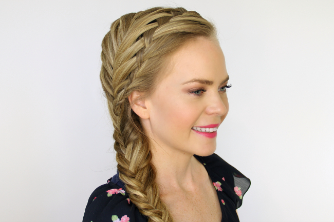 Waterfall And Fishtail French Braids With Regard To Most Recently Over The Shoulder Mermaid Braid Hairstyles (View 6 of 25)