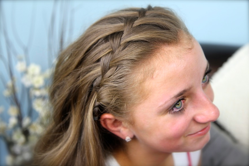 Waterfall Braid Headband Combo | Braided Hairstyles | Cute With Regard To Most Up To Date Braided Headband Hairstyles For Curly Hair (View 17 of 25)