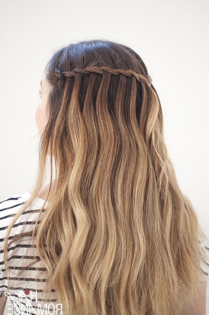 Waterfall Mermaid Braid Tutorial For Long Hair – Hair Romance For 2018 Waterfall Mermaid Braid Hairstyles (View 7 of 25)
