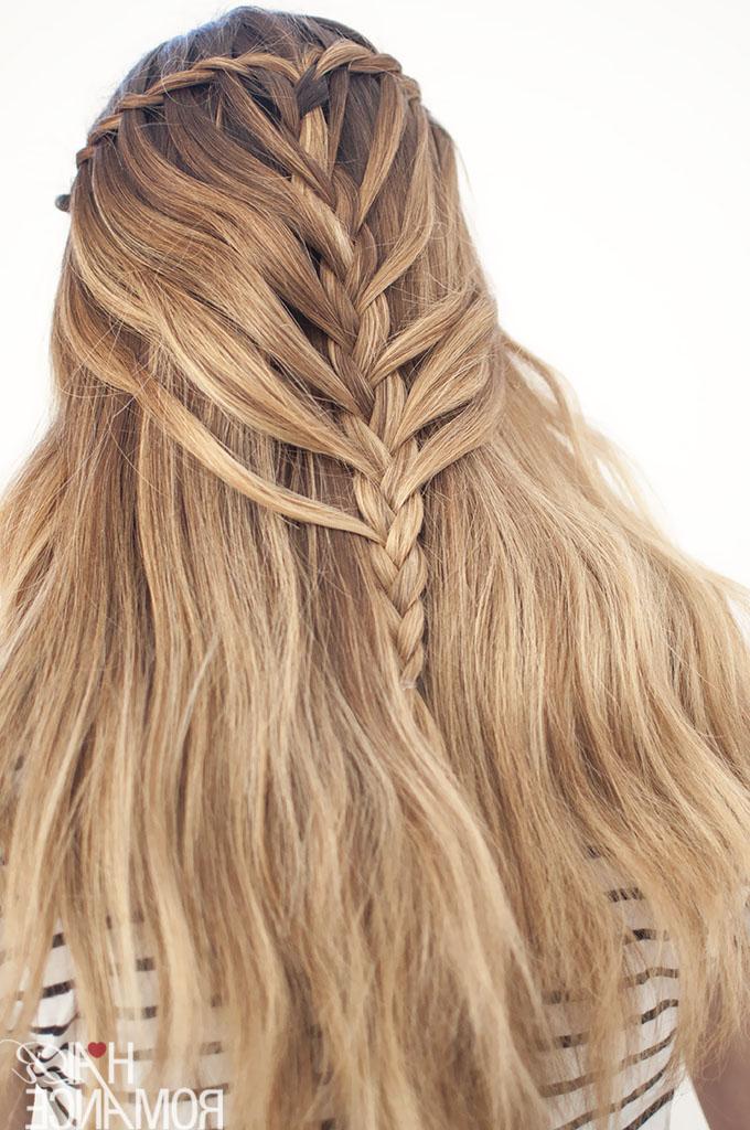 Waterfall Mermaid Braid Tutorial For Long Hair – Hair Romance Regarding Newest Mermaid'S Hairpiece Braid Hairstyles (View 16 of 25)