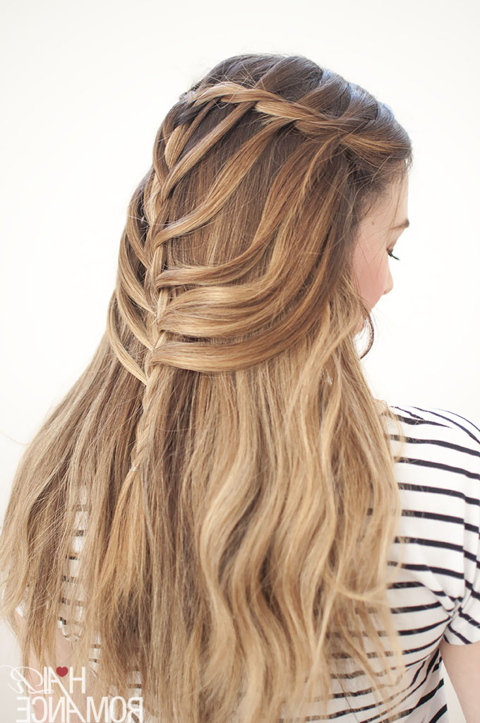 Waterfall Mermaid Braid Tutorial For Long Hair – Hair Romance Throughout Best And Newest Twisted Mermaid Braid Hairstyles (View 21 of 25)