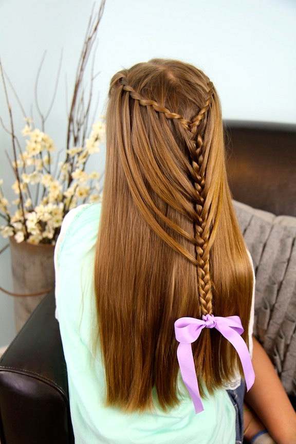 Waterfall Twists Into Mermaid Braid | Cute Hairstyles | Cute Pertaining To Most Up To Date Waterfall Mermaid Braid Hairstyles (View 6 of 25)