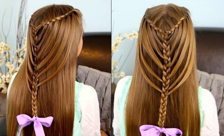Waterfall Twists Into Mermaid Braid Tutorial – Beautiful Shoes Inside 2018 Waterfall Mermaid Braid Hairstyles (View 24 of 25)