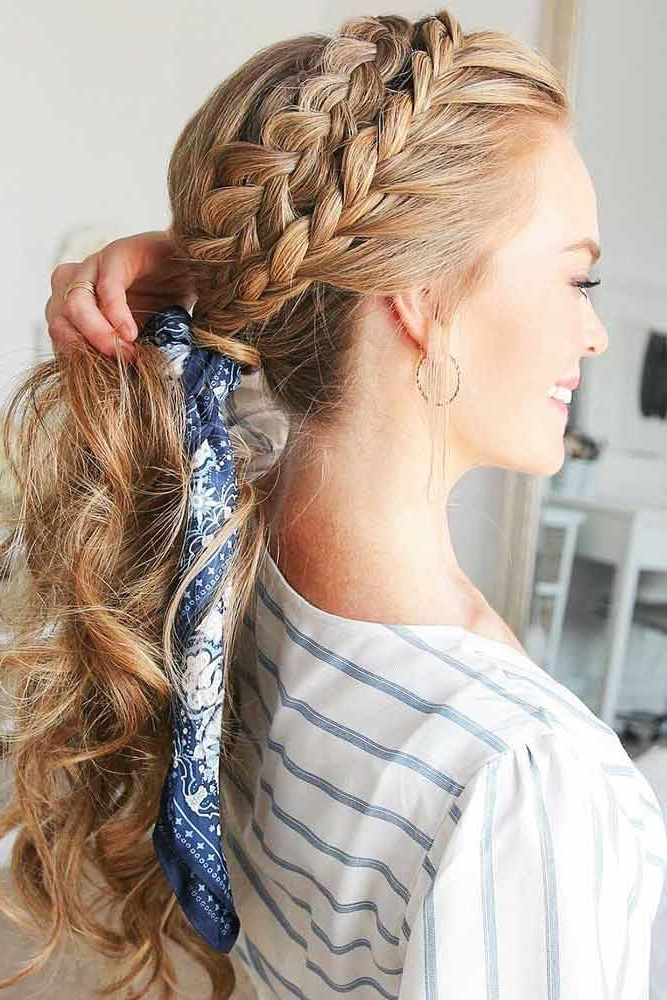 Ways Of Sporting A Headband Braid | Hair | Braids For Medium Inside Most Recently Double Headband Braided Hairstyles With Flowers (View 9 of 25)