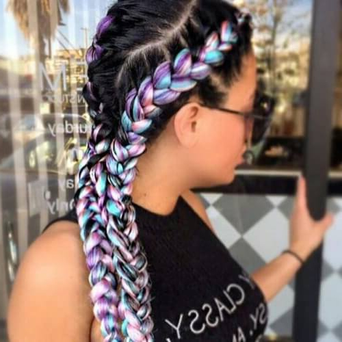 We Adore These 50 Braid Styles & So Will You! | Hair Motive For Most Popular Multicolored Extension Braid Hairstyles (View 12 of 25)