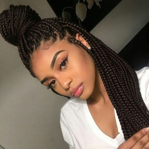 We Adore These 50 Braid Styles & So Will You! | Hair Motive Inside Latest Half Up Buns Yarn Braid Hairstyles (View 8 of 25)